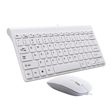 USB Wired Keyboard Mouse Combo For Desktop Computer 78 Keys Wired Keyboard And Mouse For Mac book Laptop Notebook Office