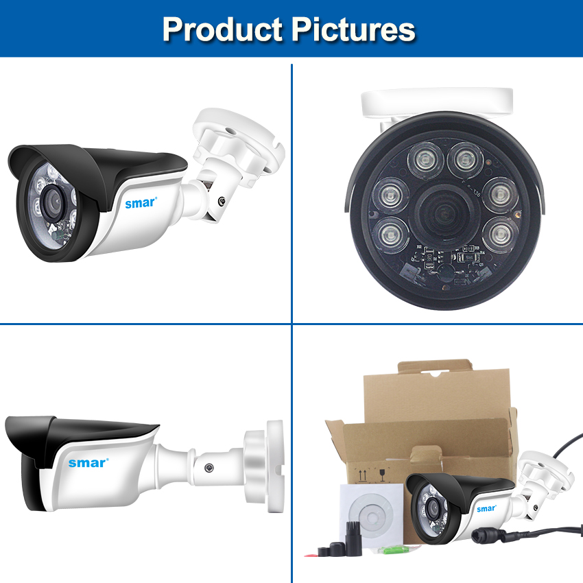 Image 5 - Smar H.264 Bullet IP Camera 720P 960P 1080P Security Camera Outdoor/Indoor 24 hours Video Surveillance Onvif POE 48V Optional-in Surveillance Cameras from Security & Protection