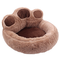 Removable Foot Pet Bed Bear Claw Shape Warm Cat Rest Mat House Nest for Puppy Cats Kennel Nest Sleeping Sofa Cushion PD0028