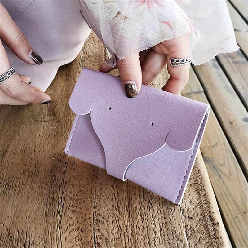 HNXZXB Nova moda senhora bolsa da moeda dos desenhos animados elefante mini bolsa de mão bolsa saco de cartão de moeda linda bolsa saco de presente de aniversário