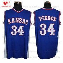 ФОТО  Cheap Kansas Jayhawks KU 34 Paul Pierce Jersey Throwback College Basketball Jersey Vintage Retro  Mens Shirts Sewn