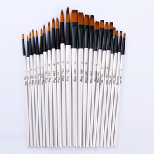12 pcs Gouache Painting Brush Watercolor Brush Oil Paint Brush With Nylon Hair For School Drawing Artist Supplies