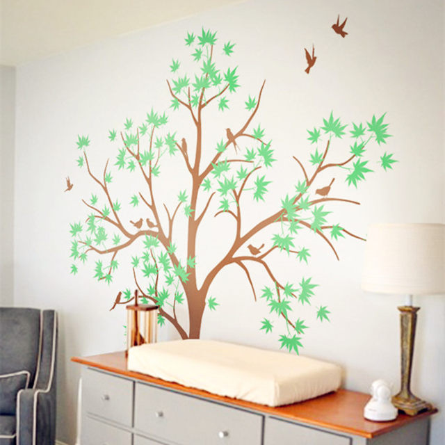 Wanddecoratie Babykamer Boom.Behang Boom Kinderkamer