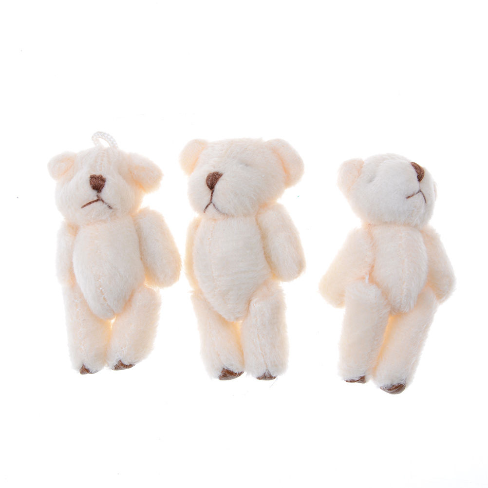 3 PCS Kawaii Small Bears Plush Soft Toys For Children Girlfriend Gifts Wedding Bouquet