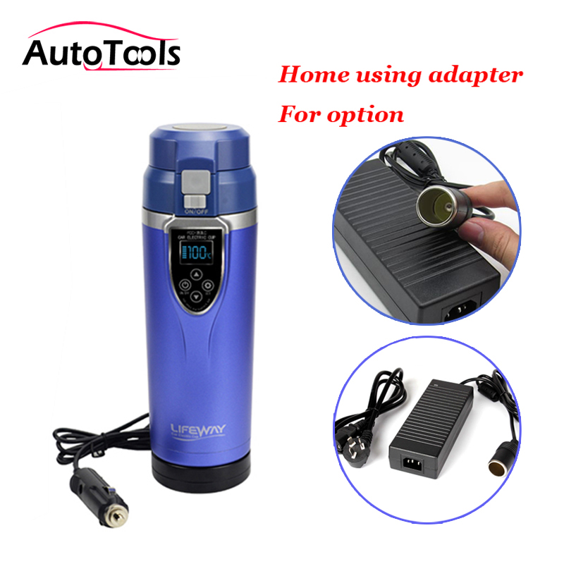 12v/24v Auto Car Heating Cup 350ML With Cigratte Charger Adapter Boiling Mug Car Electric Kettle For Coffee Tea Car Accessories