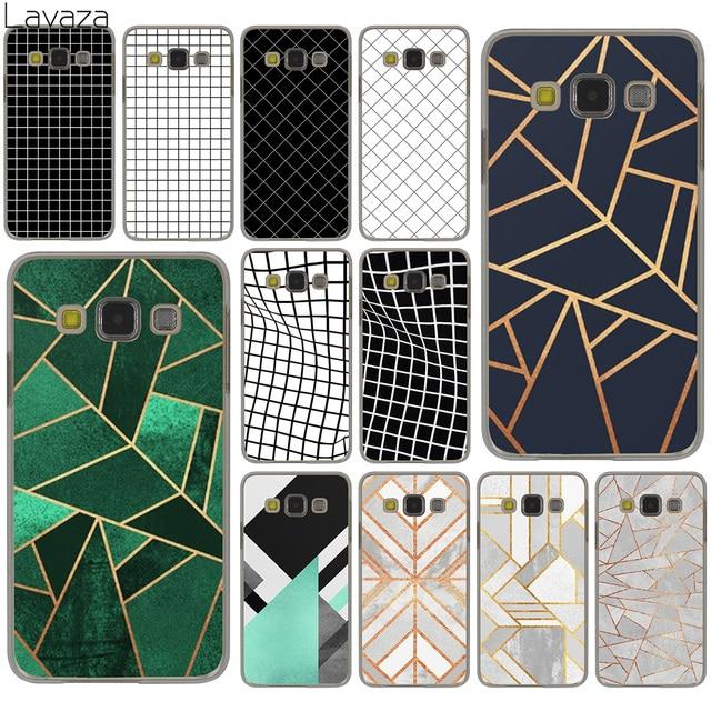 Lavaza Geometric Shapes line Pattern Black and white lattice Case for Galaxy S10 S10E S8 Plus S6 S7 Edge S9 Plus Cover