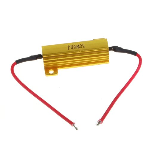 50W 6 ohm load resistor for Car Indicator LED lamp 50 ohm 500w watt power aluminum metal shell case gold resistor