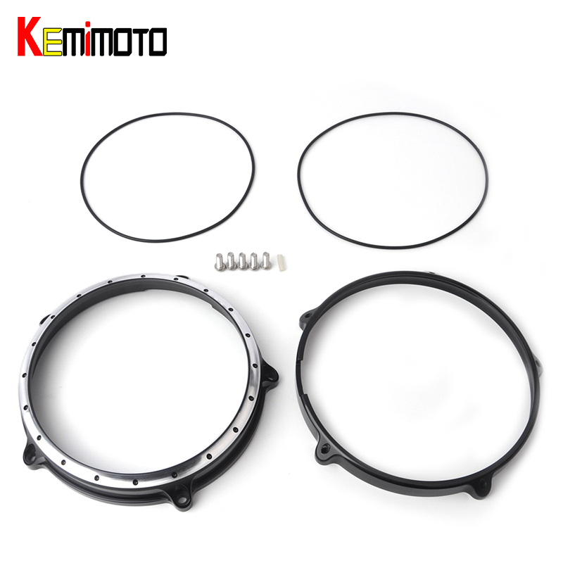 KEMiMOTO Motorcycle 7 Headlight Lamp Bezel Trim Ring For BMW R Nine T 2014-2016 for Harley Touring Electra Street Tri Glide
