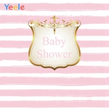 Yeele Baby Shower Photocall Stripe Children Newborn Photography Backdrops Personalized Photographic Backgrounds For Photo Studio