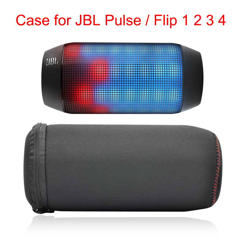 LuckyNV Portable Soft Travel Carrying Cover Bag for JBL Pulse 1 / JBL Flip 1/2/3/4 / UE BOOM Wireless Bluetooth Column Speaker