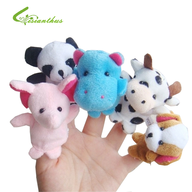 10Pcs Cartoon Animal Finger Puppet, Finger Toy, Finger Doll, Baby Dolls Baby Toys Animal Doll Free Shipping Party Supplies TT004