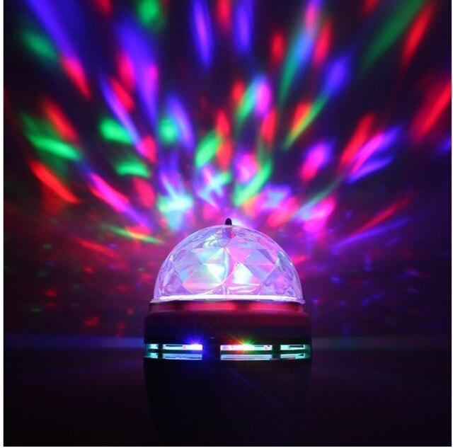 novelty items 5730 chip 3w e27 led rgb disco bal muziek geluid