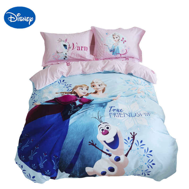 DISNEY FROZEN bedding set twin size for girl kid elsa anna print 3d duvet cover set queen full size bed spreads room decor linen