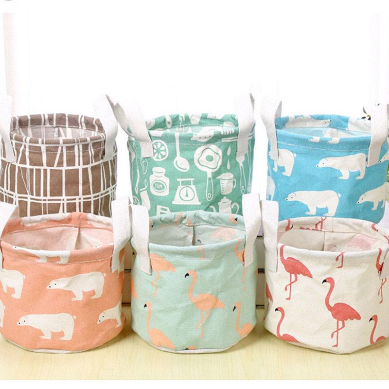 Container Organizer Pouch Bin Toy Underwear Storage-Basket Dirty-Clothes Desktop-Storage