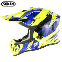 SOMAN SM633 ECE Motorrad Helm Kreuz Land Kask MX Dirt Bike Racing Helm Motocross Off Road Moto Cascos