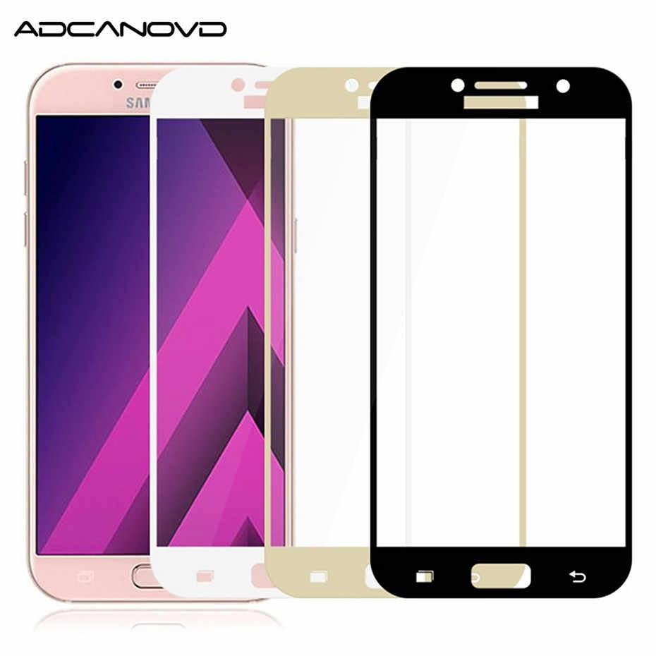Full cover tempered glass on samsung a5 a6 a7 a8 2018 glass film For samsung a3 a5 a7 2017 j3 j5 j7 2017 screen protector