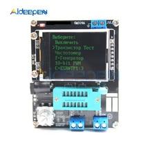Русский Английский mega328 Собранный Транзистор тестер LCR диод ESR измеритель емкости ШИМ квадратная волна генератор сигналов частоты
