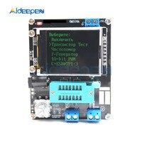 Russo inglês mega328 montado transistor tester lcr diodo esr capacitância medidor pwm quadrado onda gerador de sinal freqüência|Medidores de capacitância| |  -