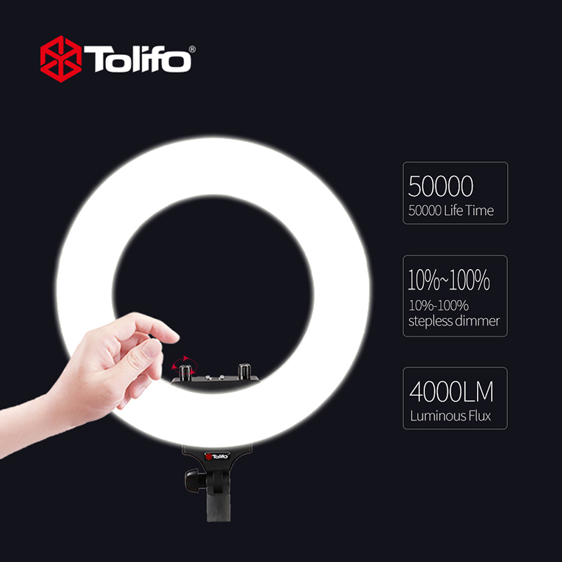 Dimmable Photography Photographic Studio LED Ring Light Video Camear Selfie 3200K-5600K Lighting Phone Video Living Broadcast цена и фото