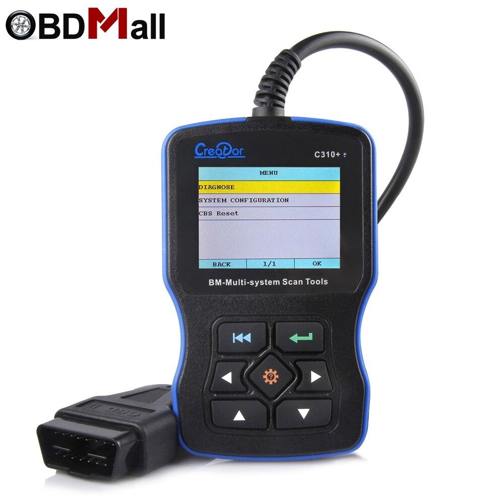 2018 for BMW Full System Car Diagnostic Tool Creator C310+ V7.6 OBD2 Scanner Fault Code Reader for BMW Better than inpa k dcan цена