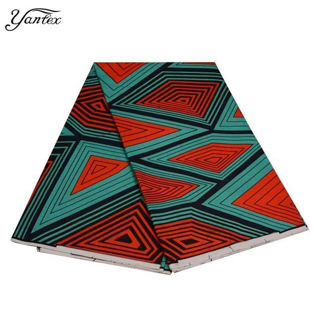 YANTEX New Arrival Nigeria Wax Print Fabric Wholesale Ankara African Wax Print Fabric 6 Yards Veritable Real Wax Tissu Patchwork