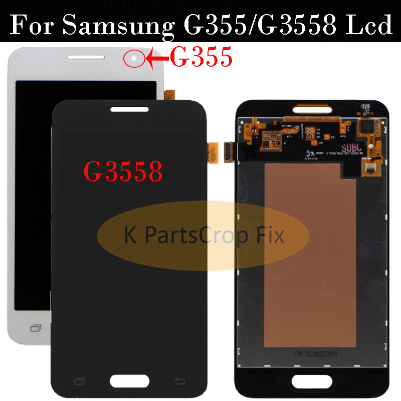 Honey 4.5for Samsung Galaxy Core 2 G355 G355h G355m G3558 Black White Touch Screen Digitizer Panel Glass Lcd Display Assembly