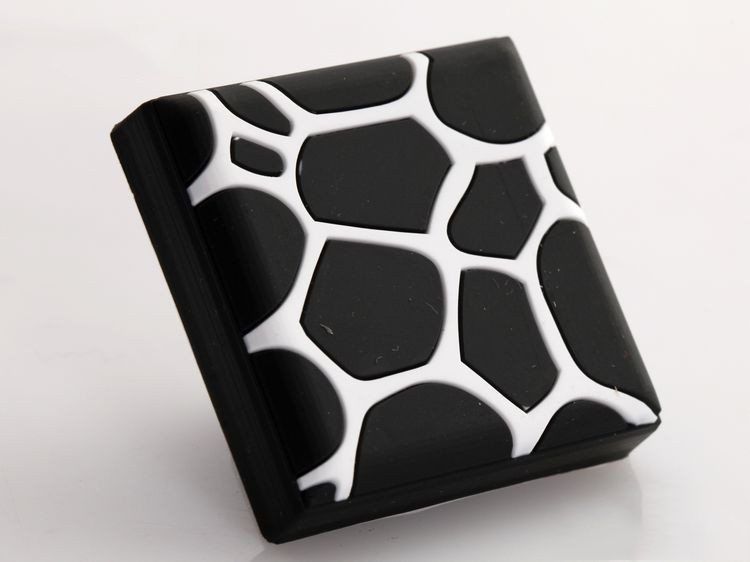 New Arrival Black Red Water Cube Cabinet Hardware Kibs Room Knob, Drawer  Pull And Handles Single Hole