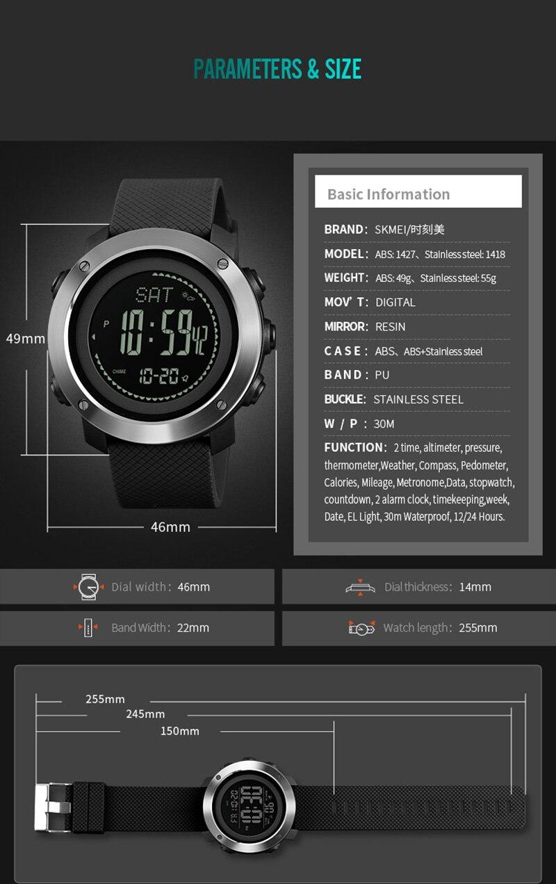 Relógios homem pedômetro calorias esportes digitais relógio
