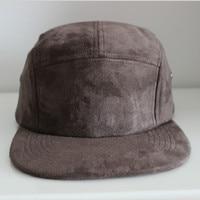 Hoge kwaliteit zwart rood navy grijs 5 panel suede cap vrouwen mannen platte rand suede dad hoed verstelbare baseball cap lente winter botten