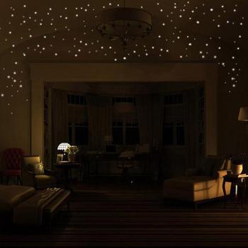 Adesivi murali Glow In The Dark Star 2 set 407 pezzi decorazioni per la camera dei bambini luminose a punto rotondo decorazioni per soggiorno decorazione oscurante
