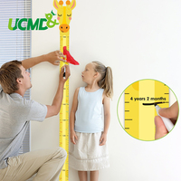 Magnetic 3D Height Gauge Ruler Self Adhesive Sticker Record Growth Chart Cartoon Kids Cute Gift Art Decoration Stickers For Wall