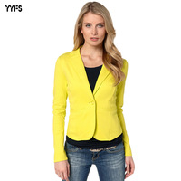 Yyfs Office Blazers For Women V neck Suit Women Casual Ladies Jackets And Blazers Single Button Office Lady Suit Blazer 2018 New