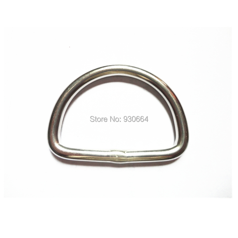 20PCS/Lot Stainless Steel D Buckle Bags Hardware Inner Width 50mm W029