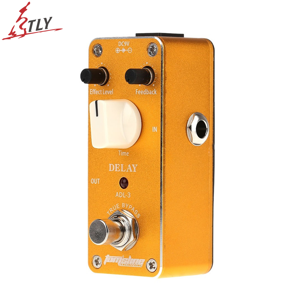 AROMA ABY-3 True Bypass Design Mini Delay Electric Guitar Effect Pedal with Sticker Aluminum Alloy Housing aroma adl 1 aluminum alloy housing true bypass delay electric guitar effect pedal for guitarists hot guitar accessories