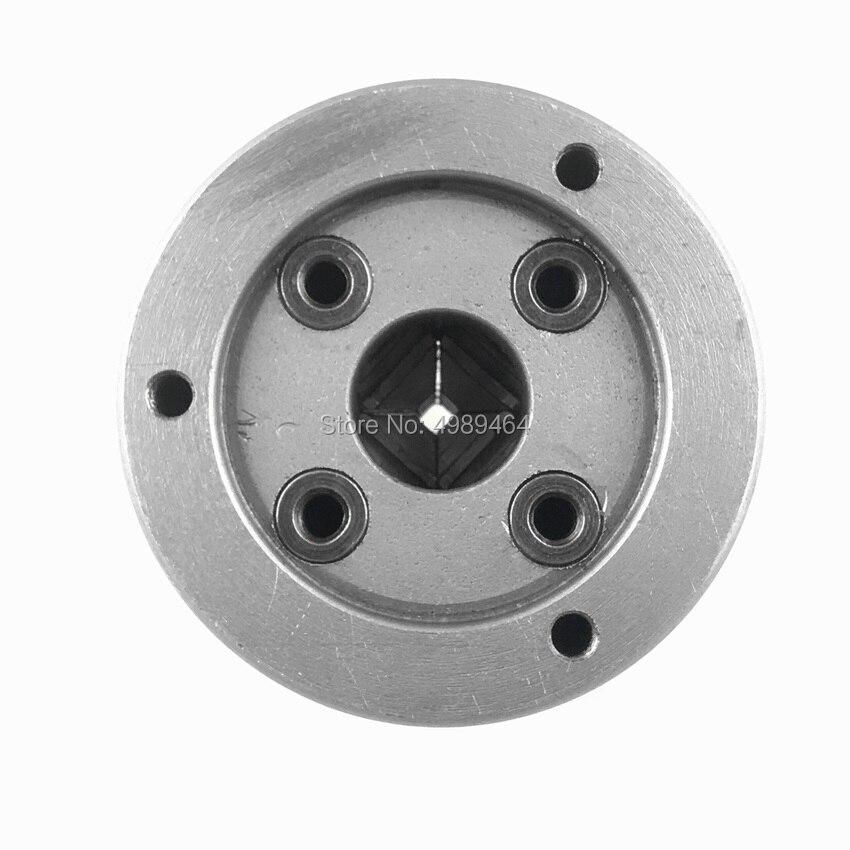 Portabrocas de torno K72-80 Portabrocas de metal autocentrante manual de 4 mordazas de 80 mm con mordazas adicionales Accesorios para m/áquinas de torneado