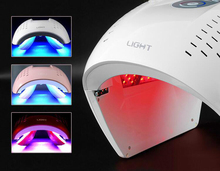 2019 Newest!!! light therapy face mask red blue purple light treatment LED face beauty equipment acne removal skin rejuvenation blue and red light therapy kills acne causing bacteria without damaging the skin