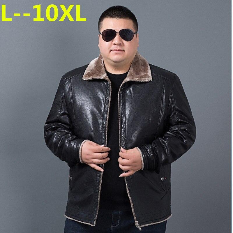 Big 10XL 9XL 8XL 6XL nouveauté hommes en cuir véritable manteau en peau de mouton hommes veste en cuir hiver vestes hommes expédition grande taille