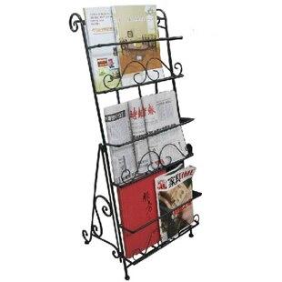 Continental Iron Books Bookshelves Newspaper Rack Magazine Shelf Racks 0047