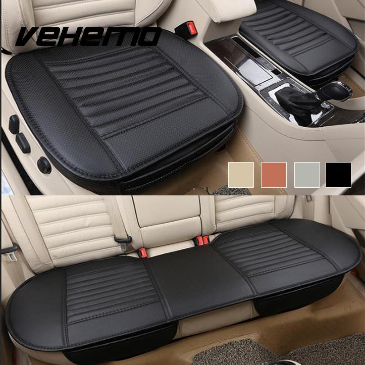 Vehemo Auto Car Vehicle Interior PU Leather Seat Cushion Pad Universal Full Set ...