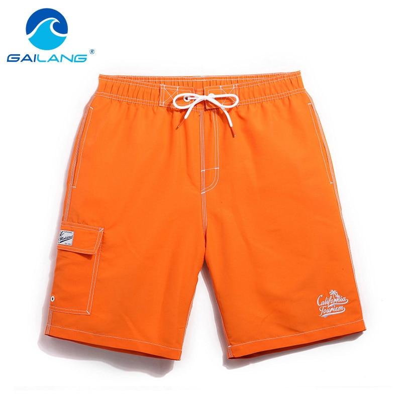 Gailang Brand Men's Board Shorts Beach Boardshorts Boxer Trunks Casual Short Bottoms Men Swimwear Swimsuits Quick Drying Fashion