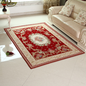beibehang mats Luxury European Court Style Jacquard Carpet Jacquard Double Yarn Bedroom Carpet Living Room Carpet floor mat