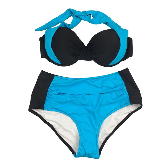 Blesskiss 2020 High Waist Bikini Push Up Swimsuit Women Swimwear Plus Size Sexy Brazilian Bathing Suits Swimming Suit For Women 2