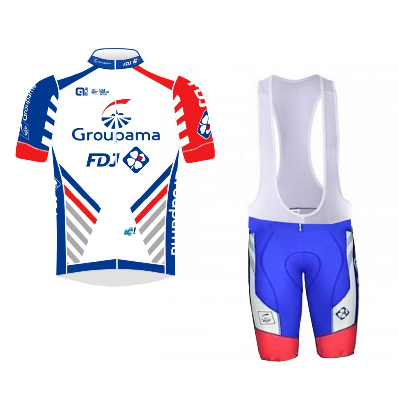more choices !2018 pro tour team fdj cycling jersey kits mens summer bike cloth MTB Ropa Ciclismo Bicycle maillot gel pad