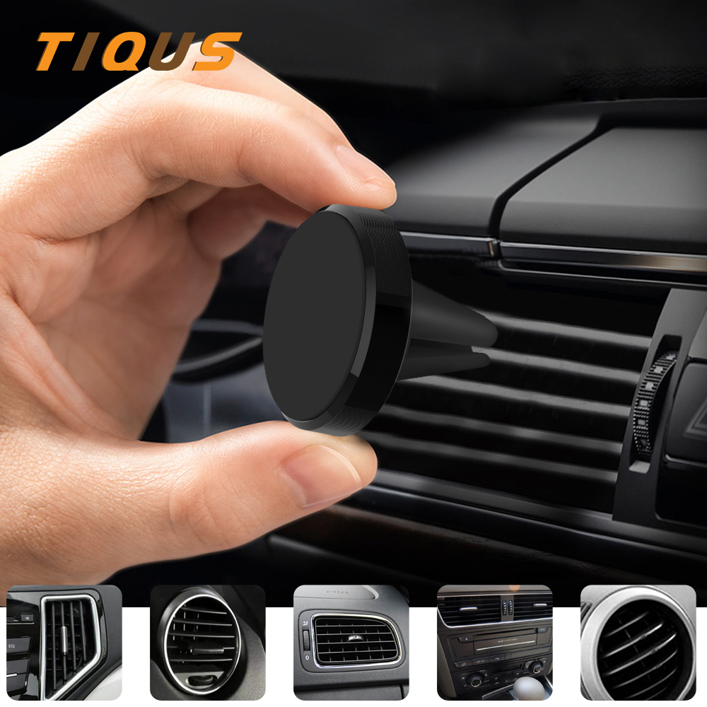 TIQUS Strong Magnet Car Phone Holder Stand In Car For IPhone Universal  Magnetic Air Vent Mount Cell Mobile Phone Support