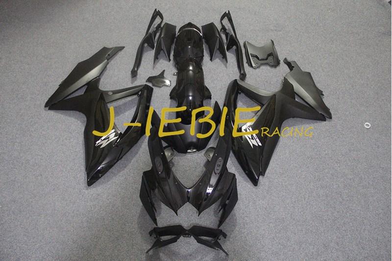 Black Injection Fairing Body Work Frame Kit for SUZUKI GSXR 600/750 GSXR600 GSXR750 2008 2009 2010
