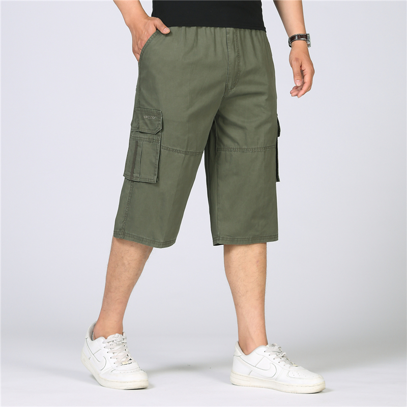 2018 Summer Casual Tactical Cargo Shorts Men Military Cotton Loose Knee Length Multi-Pocket Baggy Working Short Plus Size 4XL