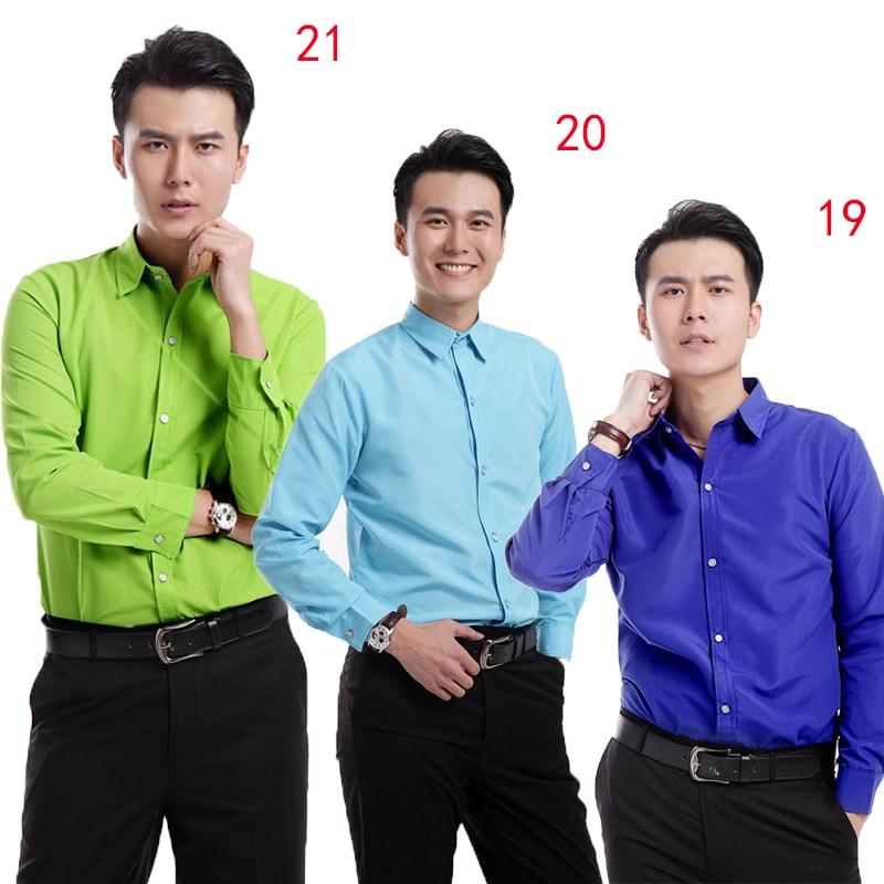 2018 mode all-match couleur bonbon homme chemise vêtements chemise