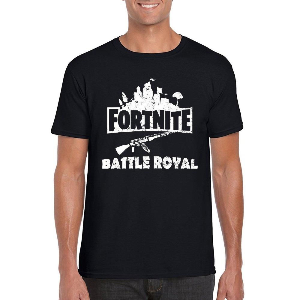 T Shirt Novelty Fortnite Gamer T Shirt, FPS PUBG Battle Royal Survival Inspire Parody Tee Top Hot Sale Casual Clothing