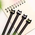 Free shipping 2015 black Kitty Cute pens, 0.5mm kawaii pen caneta stationery school supplies canetas mont black escritorio 0315