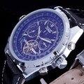 2016 New Fashion Luxury Brand JARAGAR Mechanical Men Watch Tourbillon Week Hours Dial Automatic Genuine Leather Strap Wristwatch
